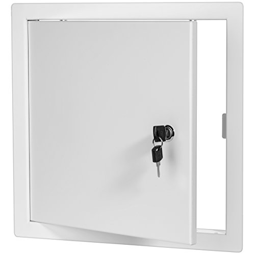 Premier 2002 Series Steel Access Door, 24 x 24 Flush Universal Mount, White (Keyed Cylinder Latch)