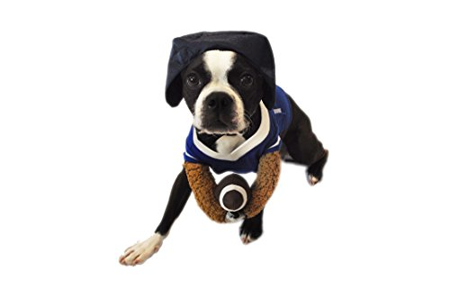 Silver Paw NFL Football Reality Dog Costume, Large, Blue