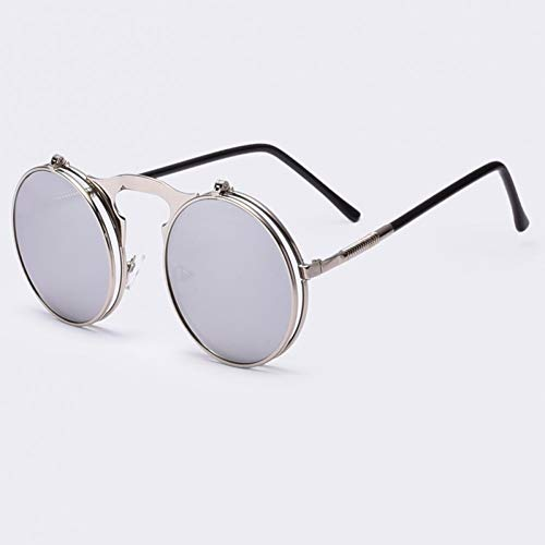 Lllm Punk De Rond Sounglasses Glasses Oculos Steam Designer Femmes Sun Ao2silver Lunettes Soleil Hommes Retro Circle Coating Métal Vintage Sol q0wI5qr
