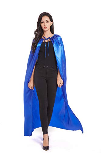 Crizcape Adult Halloween Costumes Cape Cloak Knight Witches Vampires Cosplay(XL,Blue)