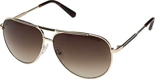 GUESS Unisex GF5034 Satin Gold With Brown/Brown Gradient Lens One Size
