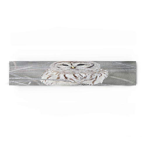 - Decorfine Owl Perch On Tree Cotton Table Runner - Perfect for Summer, Holiday Parties and Everyday Use 18x72inch