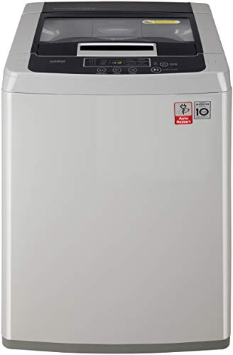 LG 6.5 Kg Inverter Fully-Automatic Top Loading Washing Machine (T7585NDDLGA, Middle Free Silver)