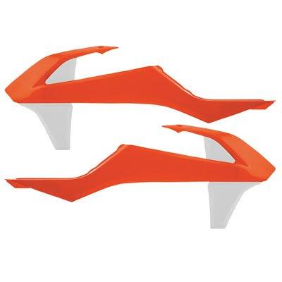 Acerbis Radiator Scoops 16 KTM Orange//White for KTM 300 XC 2017-2018