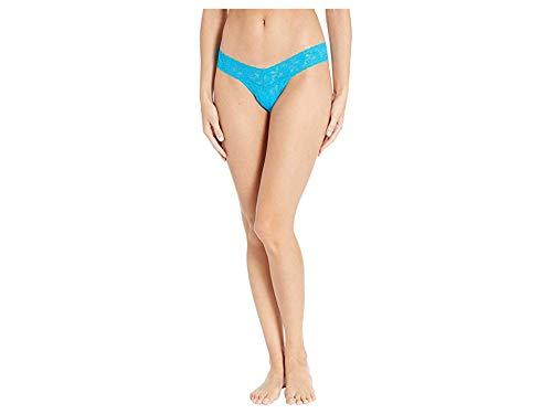 Hanky Panky Women's Signature Lace Low Rise Thong Fiji Blue One Size