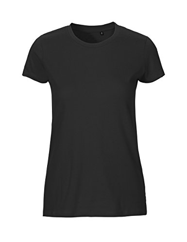 NEUTRAL Ladies Fit T-Shirt, 100% Organic Cotton and Fairtrade Certified, Color Black, Size ()