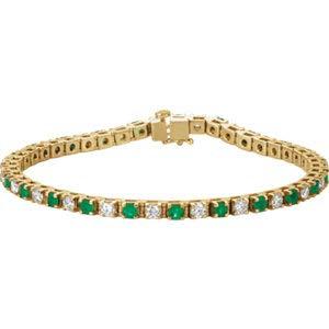 Jambs Jewelry 14K Yellow Emerald & 2 1/3 CTW Diamond Bracelet