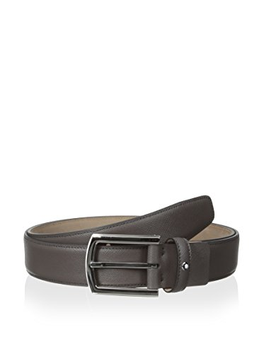 Montblanc-Classic-Line-Grey-Saffiano-Print-Leather-Mens-Belt-109752