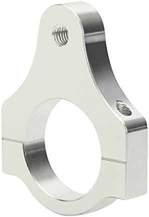 Tencasi 56MM Diameter Aluminum Steering Damper Fork Frame Mounting Clamp Bracket Foot Fixer for Motorcycle Bike Modification Silver