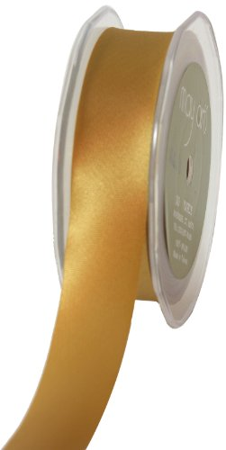 May Arts 1-Inch Wide Ribbon, Gold Satin by May Arts