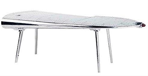 casa padrino luxus designer schreibtisch aviator wing left aluminium flugzeug flgel art deco vintage - Schreibtisch Aus Flugzeugflgel