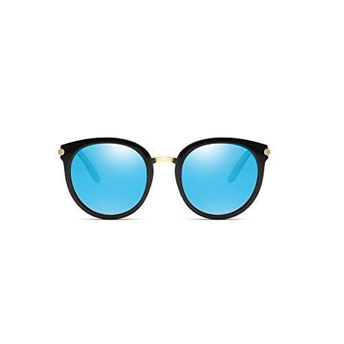 coréen Générique Visage Soleil réseau Rouge marée Sunglasses de Soleil Blue Ice Femme de rétro Blossom Couleur Nouveau Lunettes Lunettes Rond Lunettes polarisées Cherry nqAAYZxg