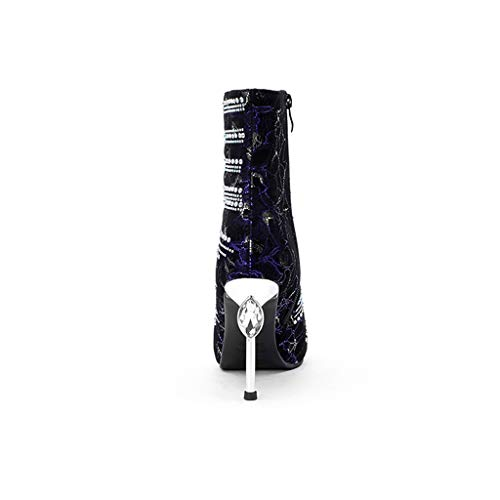 Puntiaguda Finas Modelos Imitación Individual E Invierno Mujer Con Cuero Diamante Moda Botas 2018 Zapatos Purple Atractivas Otoño De Nuevas Feaona wvI6qTp