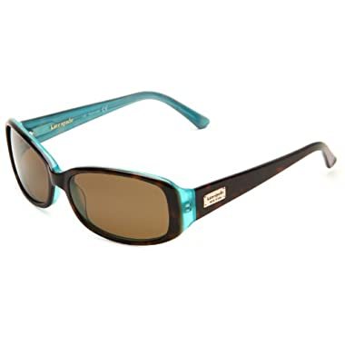 Kate Spade Women's Paxton/S Rectangular Sunglasses,Aqua Tortoise Frame/Brown Polarized Lens,one size