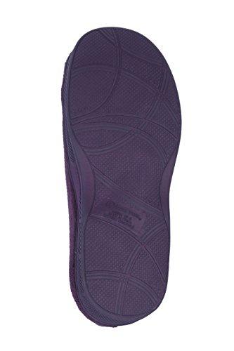 Pantoufles Intérieure Joan Vass Terry Slide Intérieur Disponible En Magnifiques Couleurs Mauve