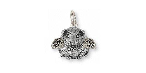 Guinea Pig Jewelry Sterling Silver Guinea Pig Charm Handmade Piggie Jewelry GP12X-AC