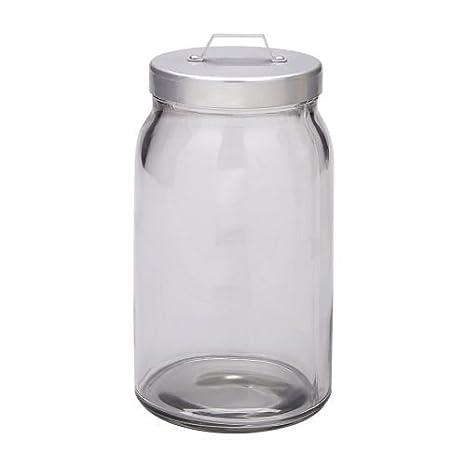 Ikea Burken - Barattolo con coperchio, in vetro trasparente, in ...