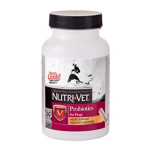 Nutri-Vet Probiotics For Dogs, Caplets 60 ea (Pack of 4)
