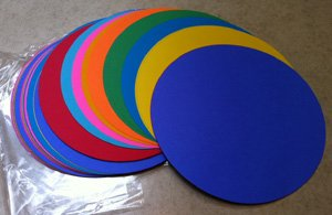100 Color Paper Die-Cut Circles 9.75 inch diameter