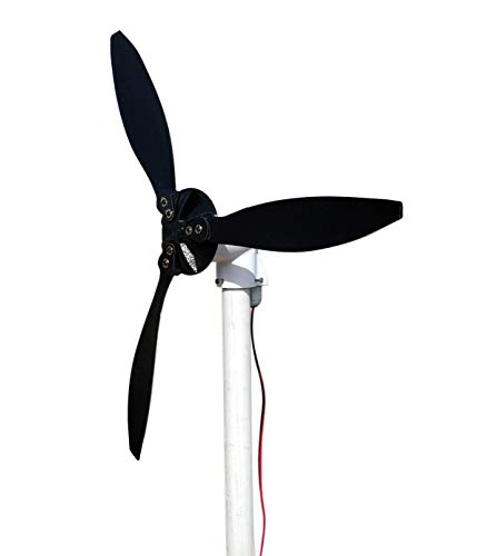 Cutting Edge Power Mini 12 Volt Wind Turbine Generator, Portable, w/Accessories,Small, Made in USA (Pipe/Tube Mount, 3 Blade (18'')) by Cutting Edge Power (Image #3)