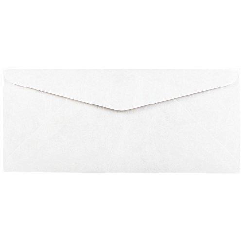 JAM Paper #10 Business Tyvek Envelope - 4 1/8'' x 9 1/2'' - White - 500/box by JAM Paper