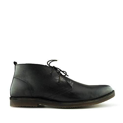 In Pelle Pizzo Boots Marrone Chelsea Deserto Scuro Nero Uomo Caviglia d5wqFHFp
