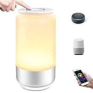 LE LampUX Lampe de Chevet LED WiFi(2.4Ghz) Intelligente, Fonctionne avec Alexa, Google Home, Lampe de Table RGB…