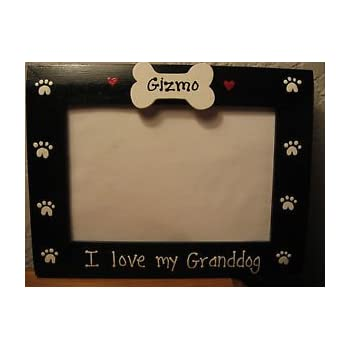 i love my granddog custom personalized grandparents pet photo picture frame