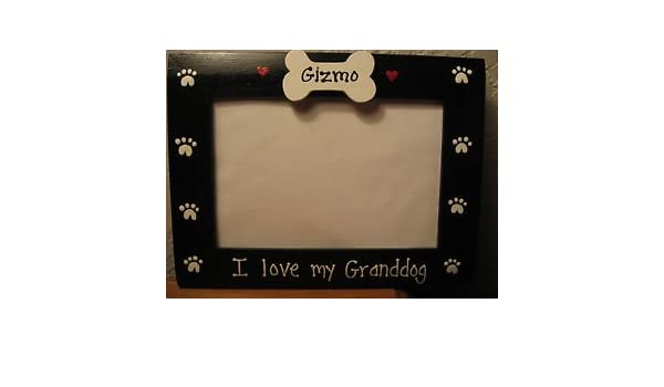 amazoncom i love my granddog custom personalized grandparents pet photo picture frame