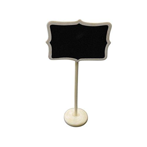 PaperLanternStore.com Large Rectangular Standing Wedding Chalkboard Sign Table Number Holder from Quasimoon