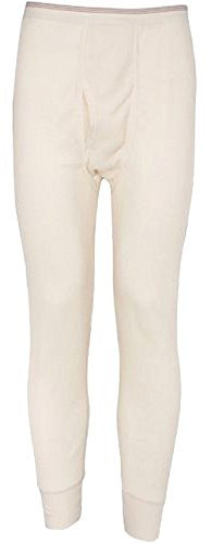 Colored Thermal Underwear - Indera Mills Colored Thermal Long John Bottoms,Medium,Natural