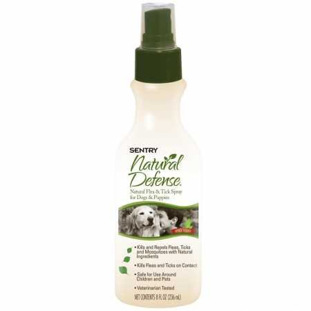 (SENTRY Natural Defense Natural Flea and Tick Spray for Dogs and Puppies, Rid Your Dog of Fleas, 8 oz)