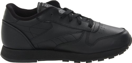 Reebok Classic Leather Black Black Youths Trainers