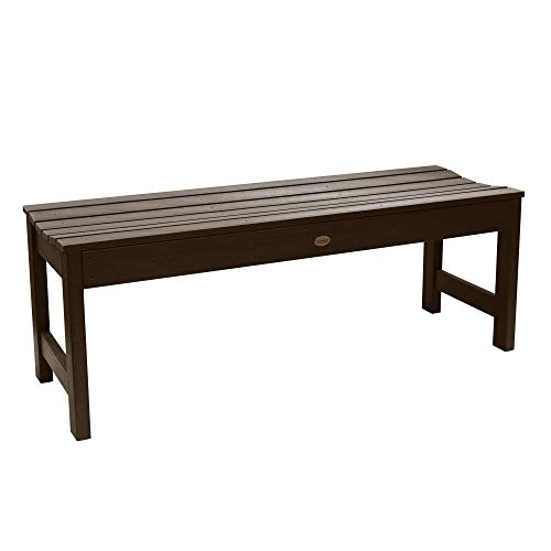 Highwood Lehigh Backless Bench, 4 Feet, Weathered Acorn (Recycled Plastic Benches Picnic)