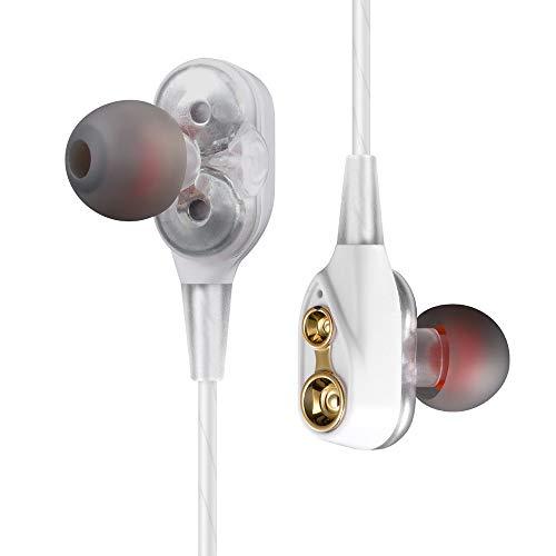 Bluetooth イヤホン ワイヤレス ヘッドホン マイク付き マグネット 両耳 ブルートゥース インナーイヤー 超軽量 usb 充電 スポーツ 操作簡単 ヘッドセット 聴力保護 ネックレス型/ネックバンド型 スイッチ iPad スマホ用 iPhone Android 対応 Bluetooth Earphone (ホワイト)