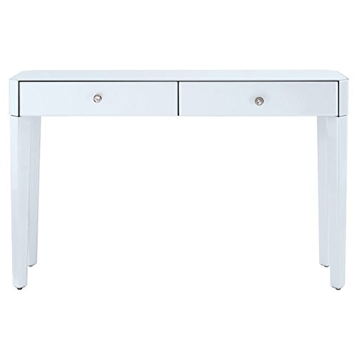 - Pulaski DS-D114006 Reverse Painted White Glass Console Table,