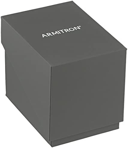 Armitron Women's 75/5654BKGP Swarovski Crystal Accented Gold-Tone Bangle Watch