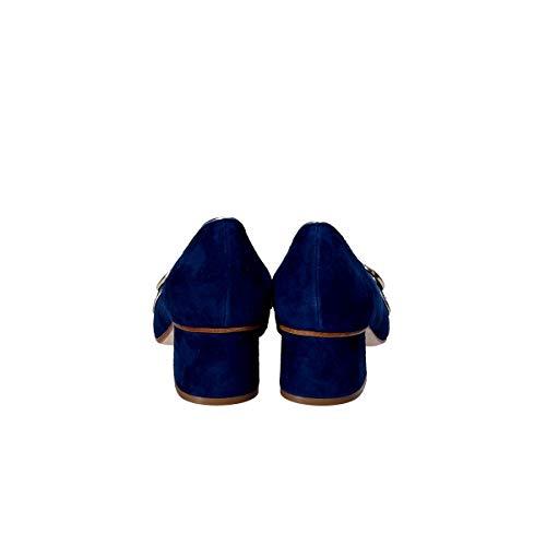 Suède Escarpins Seller The Femme Bleu S5662 w7FIqn
