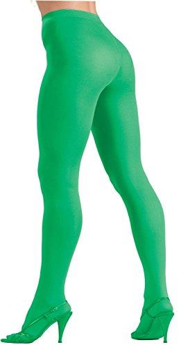 Forum Novelties Women's Plus-Size Novelty Solid Color Queen Tights, Green, Plus ()