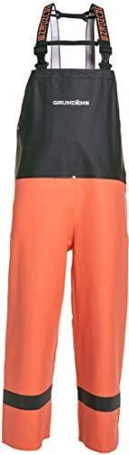 Grundens Balder 504 Bib Pant - Orange/Black - Medium