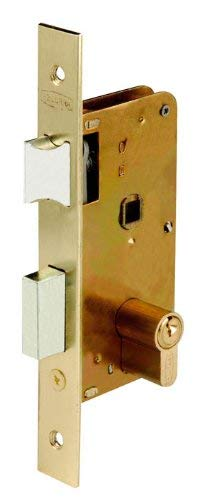 Cerradura embutir hierro latonado 3100-50 Ezcurra M29374