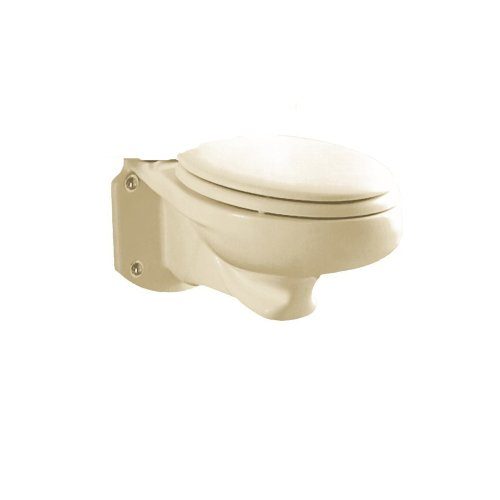 American Standard 3402.016.222 Glenwall Pressure-Assisted Wall-Mounted Elongated Toilet Bowl, Linen by American Standard