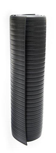 Bertech Anti Fatigue Vinyl Foam Floor Mat, 3' Wide x 20' Long x 3/8'' Thick, Ribbed Pattern, Black (Made in USA) by Bertech (Image #2)