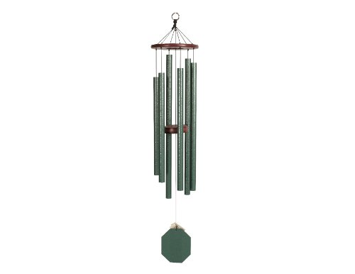 eHemco Amish Handcrafted Wind Chimes - Malachite Series (37