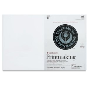 Strathmore 500 RiverPoint Printmaking Paper, 20 x 30 Inches, White, 5 Sheets by Strathmore