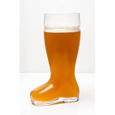 Oktoberfest Style Glass Beer Boot / Das Boot - Octoberfest Glass Beer Mug - 2 Liter