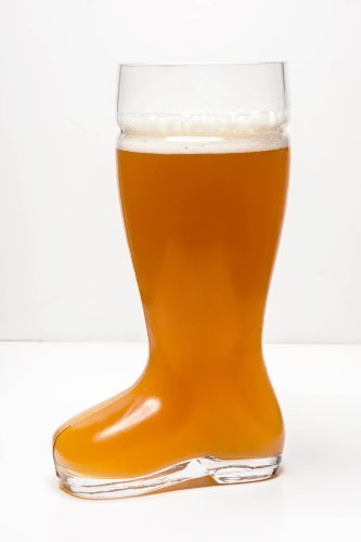 Imperial Home MW1871-BB Oktoberfest Style Glass Beer Boot/Das Boot - Octoberfest Glass Beer Mug - 2 Liter -