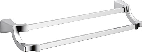 Delta Faucet 75225 Tesla Double Towel Bar, Chrome, 24'' by DELTA FAUCET
