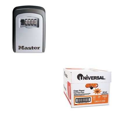 KITMLK5401DUNV21200 - Value Kit - Master Lock Locking Combination 5 Key Steel Box (MLK5401D) and Universal Copy Paper (UNV21200)