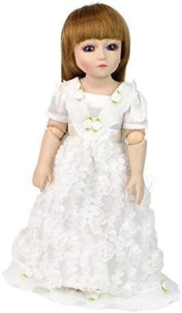 Reborn Baby Dolls Reborn Baby Dolls À La Main Réaliste Réaliste Silicone Vinyle Bébé Poupée Soft Simulation 18 Pouces 45 Cm Yeux Ouverts Blanc Princesse Robe Fille Cadeau Préféré
